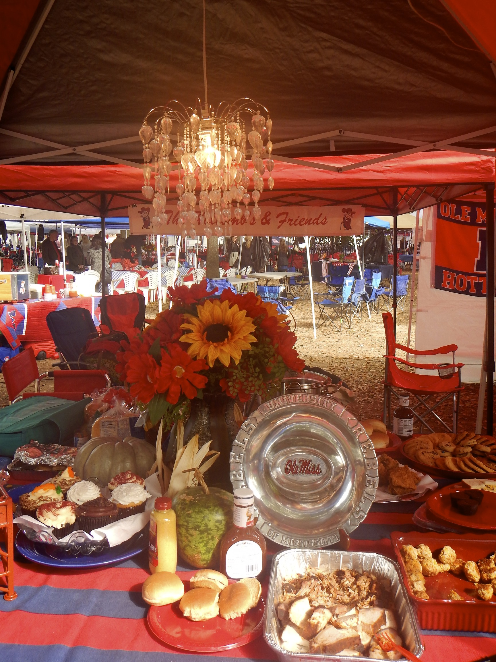 Tailgating in The Grove at Ole Miss