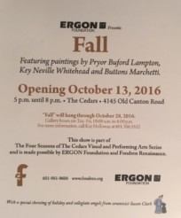 Art Show and Reception at The Cedars